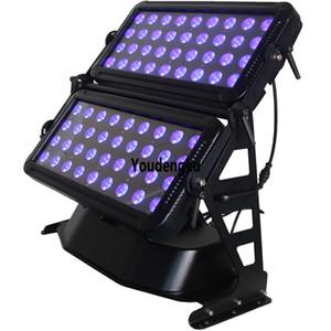 Outdoor City Farbe LED Flutlicht 72x18W RGBWA UV 6in1 Doppelköpfe Wasserdichte LED Wall Washer Light
