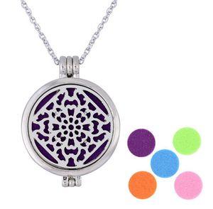 Ожерелье медальона Ароматные украшения Магнитная бабочка Фетровые прокладки Ожерелья диффузора