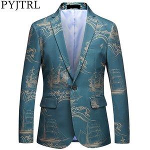 PYJTRL Mens fashion Chinese Style Suit Jacket Slim fit Blazers Classic Casual Jackets blazer masculin