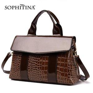 SOPHITINA Nouveau Polyvalent Messager Femmes Sacs Crocodile Imprimer haute qualité épaule réglable Sacs Bracelet Mode HandBags E41