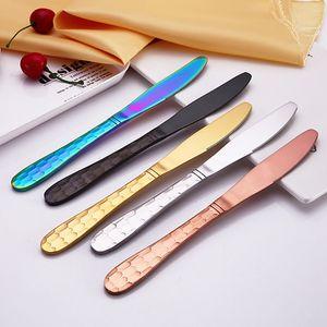 Acero inoxidable chapado en oro Cubo de Agua Serie Western Hotel de 4 piezas Set de vajilla cuchara tenedor cuchillo de la cena Forks cucharaditas de cubiertos DH0499 T03