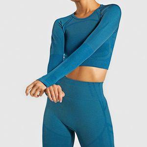 Giyim Eşofman S-L Koşu Yoga Seti Sorunsuz Ensemble Seksi Başparmak Delik Spor Suit Kadın Spor Fitness Seti Egzersiz Spor Giyim