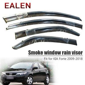 EALEN Kia Forte 2009 2010 2011 2012 2013 2014 2015 2016 2017 2018 Deflector Aksesuar 4pcs / 1SET Duman Pencere Yağmur giriş saçakları için