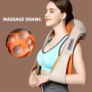 Shiatsu elétrica Voltar Neck Shoulder corpo infravermelho aquecida massageador No carro em casa
