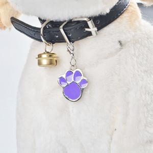 8 Farben-Katze-Hunde Kosename Marke Schlüsselanhänger ID-Karte Keychain Welpen-Tatzen-Druck-Anhänger Schlüsselhalter Großhandel Dog Tag freies Verschiffen