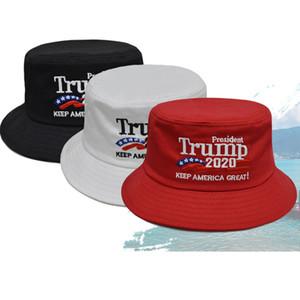 Nouveau Make America Great Again Donald Trump Chapeau Seau Chapeaux Pêcheur Chapeau De Soleil Plage Chapeaux De Fête De La Mode Chapeaux De Balles 3 couleurs HH9-2209