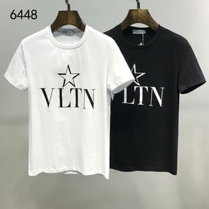 2020 estate di modo delle donne degli uomini Valen lettera T-shirt manica corta Streetwear camicia casuale # 011 europeo nei pressi di lusso bianchi Stampa Tees Medusa