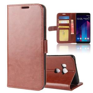 cas de téléphone pour HTC U11 U12 plus la vie fou cheval portefeuille portefeuille en cuir PU TPU support de téléphone couvrir cas pour HTC desire 12s plus