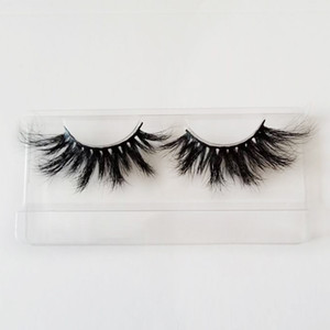 Hot Selling 25mm Lashes 5D Mink Eyelashes Mink Hair Full Strip Lashes Natural Long False Eyelashes