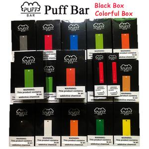 Новый пакет Puff Бар Одноразовые устройства Pod Starter Kit Regular Colorful Box 280mAh Аккумулятор 1,3 мл картридж Vape Новый Защитный код DHL