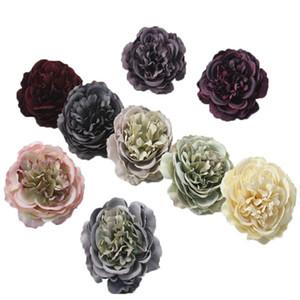 Decoração do casamento Heads peônia cabeça de flor de seda artificial da flor da peônia partido Home oito centímetros Falso Simulação Cabeça de Flor
