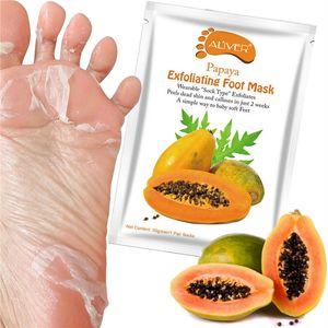جديد ALIVER الأفوكادو البابايا زيت الزيتون يكفولياتينغ قناع القدم إزالة الجلد الميت السلس للأقدام العناية بالبشرة