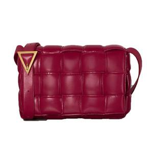 Nueva de las mujeres europeas y americanas de cuero de vaca de la moda almohada red de paquetes tofu rojo bolso pequeño retro hombro femenino paquete cuadrado