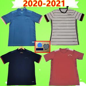 독일 2020 2021 Germany Soccer Jersey 홈 어웨이 골키퍼 HUMMELS KROOS WERNER MULLER 축구 셔츠 KROOS GOTZE SANEA KHEDIRA BOATENG Maillots De Foot