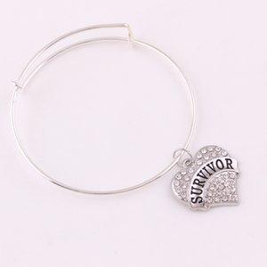 TX002 Ventes directes d'usine fahion nouvelle conception bracelet réglable survivante espoir grand-mère charme lettre bracelets brillant zircon dames bijoux