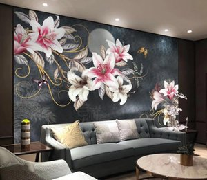 Custom wallpaper photo Hand painted beautiful flower plants background mural home decoration living room bedroom 3d wallpaper