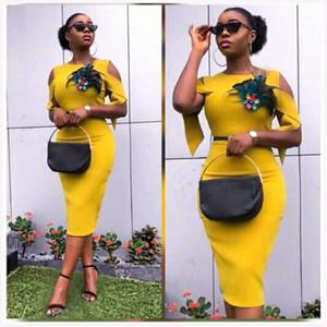2019 Elegent новое прибытие мода стиль африканских женщин лето плюс размер платья длиной до колен M-XXL
