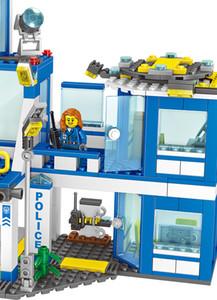 City Police Series ingly Building Blocks Set Motorbike Car Helicopter Police Station Model Brick Toys For Children Boys