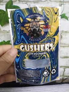 Nouveau 3.5 grammes sec sac à herbes gusher mylar odeur preuve poche zipper rescellable sac personnalisé dhl
