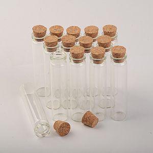 botellas de vidrio vacías Mini con tapa de madera 18 * 80 * 6mm 13ml pequeña ampolla de cristal tarros de cristal 100pcs / lot libera el envío