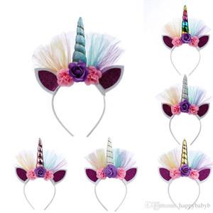 infantil cabelo chifre de unicórnio hoop do Dia das Bruxas Natal vara headband Para cabelo feriado partido do bebê partido produto Unicorn