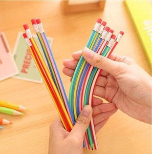 1 Pieces Korean stationery cute Candy Color Soft Flexible Standard Pencils School Fashion Office