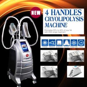 Новые 4 Handpieces Cryolipolysis замораживание жира криотерапия вакуумная потеря веса красоты машина Cryo ручки CE / DHL2018 новое прибытие 4 ручки