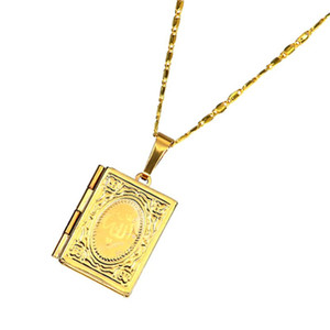 Ожерелье TTLIFE Коран коробка золото Мухаммад на цветная фотография памяти медальон кулон ожерелье мусульманские исламские ювелирные изделия подарки