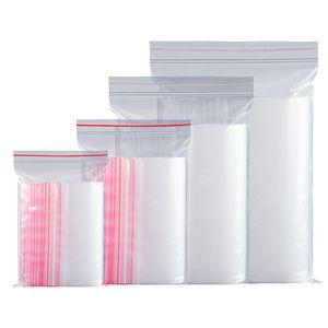 100шт / уп Resealable прозрачная упаковка мешки Пластиковые мешки Candy Nuts электронные продукты Организатор мешок 20 размеров