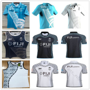 2019 2020 World Cup Fiji Home White Away Black Rugby Jersey Sevens Olympic Shirt 18 19 20 National 7's Rugby Jerseys S-XXXL