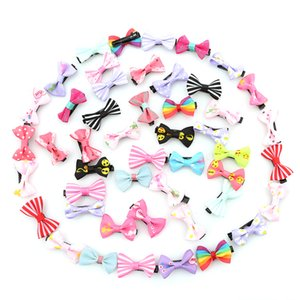20 50pcs pack Mixed Color Bowknot Kids Baby Children Hair Clip Bow Pin Barrette Hairpin Ornament Accessories For Girls