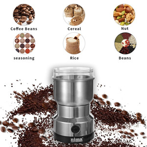 Home Electric Coffee Grinder Beans Spices Nuts Grains Grinding Machines Stainless Steel Mini Coffee Makers