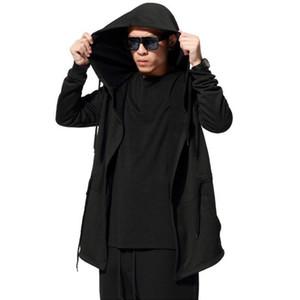 Sudaderas con capucha y sudaderas Hombres Moda Jamickiki Marca Hombre Negro Casual Algodón con capucha Sudadera Hombre H01 Tamaño asiático