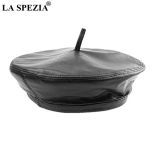 LA SPEZIA Berets Caps for Women Real Leather Female French Hat Sheepskin British Retro High Quality Winter Ladies Painter Hat