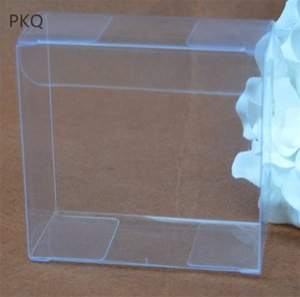 30pcs 15 * 15 * 3 cm PVC Şeffaf Plastik Kutu Kare Ambalaj Kek Sabun Display Kutu Karton Nikah Şekeri