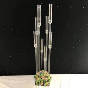 Novo estilo de casamento de cristal acrílico pilar do corredor para casamentos decoração / pedestal pedestal stand best01074