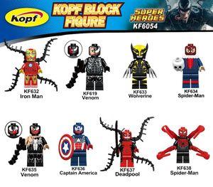 KF6054 Building Blocks figuras de acción Modelo niños juguetes del regalo de Spiderman Venom Deadpool Wolverine Iron Man Ladrillos