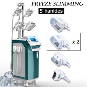 máquinas Cryolipolysis Cryolipolysis máquina de emagrecimento gordura corporal congelamento 5 alças criolipolisis terapia vácuo transporte livre de perda de peso