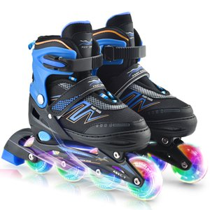 Adjustable Inline Skates with Illuminating Wheels For Kids Boys Girls Ladies
