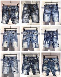 Dsquared2 dsq2 SS20 nueva llegada de calidad superior D2 marca de diseño de los hombres Denim Short Jeans bordado pantalones forman agujeros Pantalones Italia Tamaño 44-54
