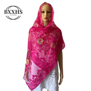 African scarfs,muslim special embroidery small net scarf,2.1*0.5 meter small size scarf for shawls wraps