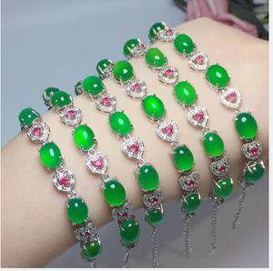 Natural grandmother diamond-encrusted bracelet free shipping, 925 silver X12071
