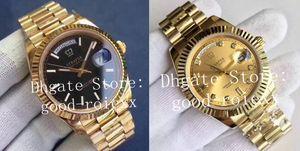 2Colour 41 milímetros de luxo ouro amarelo 18K Diamond Watch Men Dia Cal.3255 automática EW Fábrica Data 218238 Bracialet Homens presidente 118238 Relógios