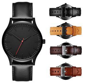 Ünlü Lüks Erkek Saatler 40mm Kalite Spor Erkekler İzle Gül Altın Deri Adam Moda Elbise Kuvars Saatı