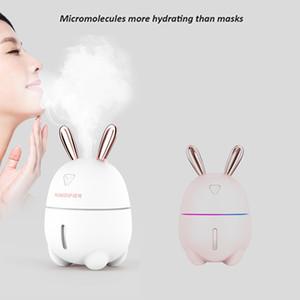 홈 오피스 데스크톱 자동차 초음파 공기 가습기 300ml의 새로운 USB 가습기 신선한 상쾌한 향기 토끼 가습기 미스트