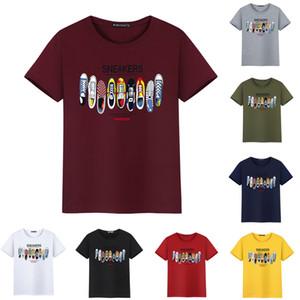 Tasarımcı Erkek T Shirt Yeni Moda Tide Ayakkabı Baskılı Erkekler Tee Gömlek Tops Artı boyutu S-5XL Çoklu Renk Seçilebilir