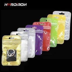HARDIRON Colorful autosigillante Jewelry sacchetto di plastica U Disk Piccolo Mini Skylight trasparente Packaging Bag