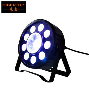 TIPTOP Bühnenscheinwerfer TP-P04 9 + 1 Digit PAR-Licht RGB Kunststoff SLIM LED Par Cans 3IN1 Farbe 9 * 3W + 1 * 30W DMX 6CH Dual-Bracket Arm Light Weight