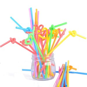 One set of the latest color art straws disposable shape juice drink straws = 100 packs can be bent, free shipping