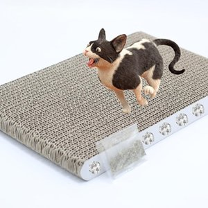 IdealHouse Cat Claw Scratching Cardboard Corrugated Paper Nest Biting Toy for Cat